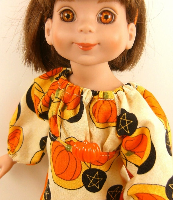 REDUCED Doll Dress Fits Betsy McCall - Les Cheris Doll Halloween Peasant Style Dress and Thigh High Stockings One Of A Kind