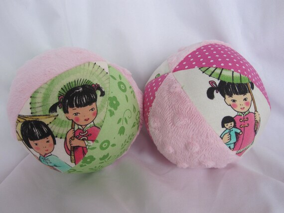 Reserved Listing for MackenzieD China Doll Cloth Jingle Ball Baby Toy