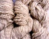 Purebred Icelandic Gray White Handspun Yarn 60 yds  4 oz