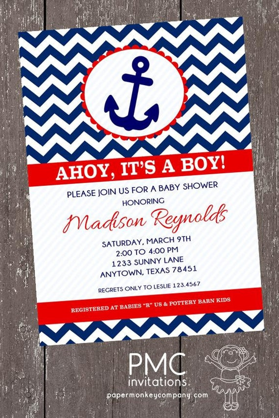 Sailor Baby Shower Invitations is adorable invitation design