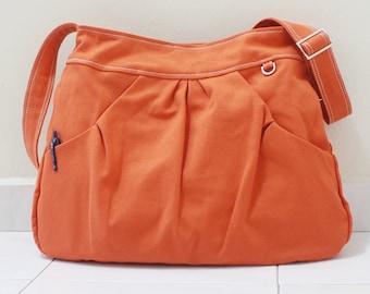 Back To School SALE - 40% OFF Hoodie in Orange / Market Bag / Sling Shoulder Bag / Tote / Purse / Hip bag / Large / Women / For her