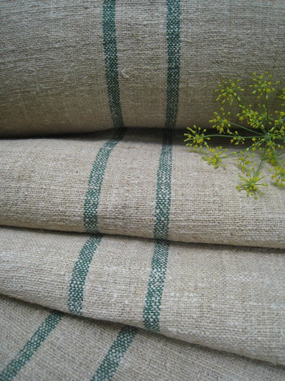 antique hemp linen roll WOW FADED GREEN 21yards handloomed upholstery tablerunner