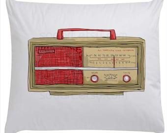 radio vintage-Digital Image Sheet -Original Illustrate Drawing  A4 Print transfer on Pillows, t-shirts, scrapbook, lampshades  ETC.v
