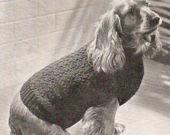 1939 Dogs coats in 4 sizes Vintage Knitting Pattern 378