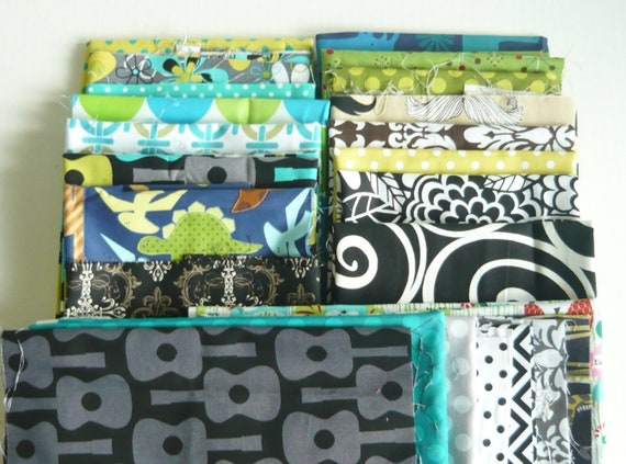 Pieces Pak Fabric scrap bundle - Micheal Miller, Ann Kelle, Alexander Henry and more - Mixed Bag nearly 9 yards of fabric