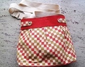 CLEARANCE SALE - Organic Cotton Khadi Canvas Multipurpose Pleated Tote /  laptop / Diaper Bag - ask for 50% discount coupon