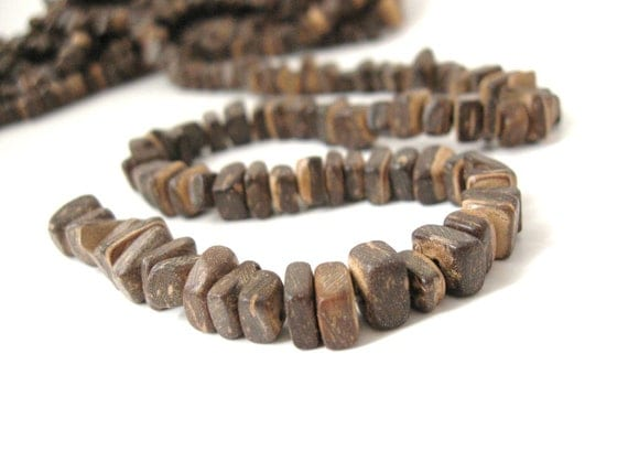 "Wood CocoNut Shell Beads - Eco Friendly Abacus Beads 7mm - 16"" strand  (PC216)"