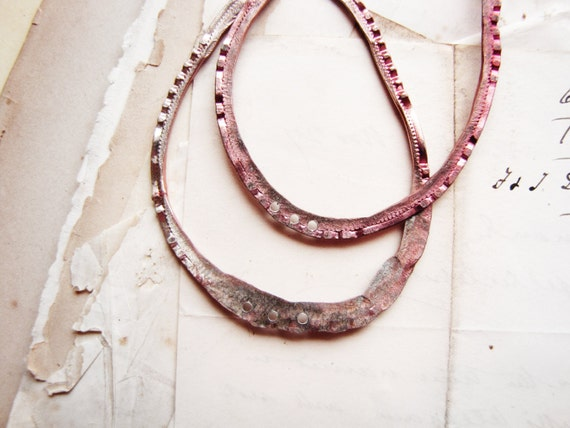 large handmade hoop findings - hammered reclaimed metal - earring supply - sparrow salvage studio - 1 pair