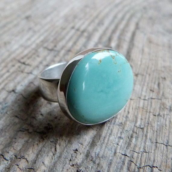 American Turquoise Ring in Oxidized Sterling Silver