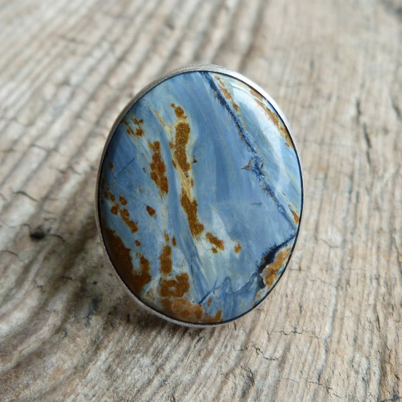 Pietersite Ring in Oxidized Sterling Silver