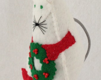 Holly the Christmas Mouse, Felt Puppet