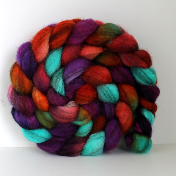 FEVER - Mixed BFL Handpainted - Hand Dyed  Roving - 4ozs