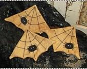 Primitive SPIDER WEB Tucks Ornies Bowl Fillers HALLOWEEN