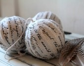 Christmas decorations / Christmas ornaments - Hymn ragball ornaments - Grey-Silver (set of 3)