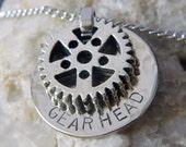Gear Head Necklace