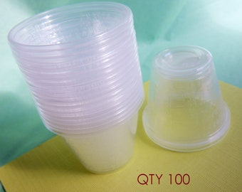 Resin Mixing Cups Pack of 100 Measuring cups Plastic