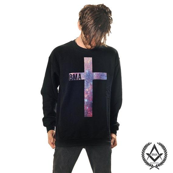 Crew Sweater // Galaxy Cross BMA XL