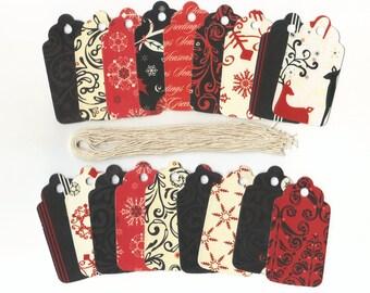 Christmas Gift Hang Tags - Magic of The Season Scallop Die Cut Hang Tags (18) Favor Tags / Ready To Ship