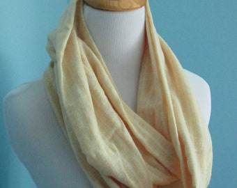 Infinity Yellow Cotton Scarf