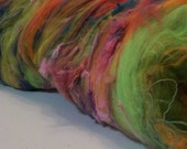 Custom 5oz Freestyle Batt - Your Choice of Colour And Materials - For Felting and Handspinning and all sorts of Fiber Arts