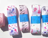 11 plus yds. Music Guitar Printed Grosgrain Ribbon Various Prints Scrapbooking Crafts Bow