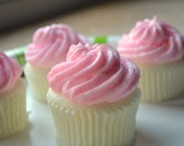 Cupcake Soap - Pretty Pink Shimmers Cupcake Soap - Valentines Day