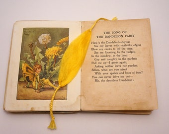 Bookmark golden yellow hand-reeled silk with plaited ends
