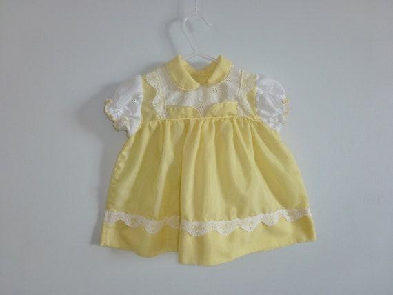 Vintage Yellow Summer Dress