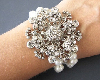 Bridal Bracelet Wedding Jewelry Rhinestone Bracelet Bridal Jewelry Swarovski Crystal Bracelet Bridesmaid Gift Set
