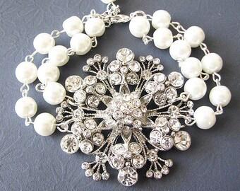 Bridal Bracelet Wedding Jewelry Rhinestone Bracelet Bridal Jewelry Swarovski Crystal Bracelet Bridesmaid Gift Set