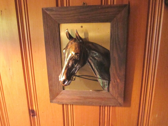 285 75 16 >> Vintage 1940s Impressive Copper Horse Head Wall Sculpture