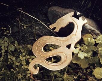 SALE Dragon Bronze Pendant
