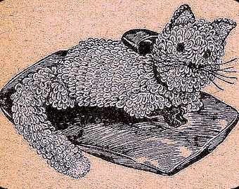 Crochet Pattern Kitten Cat Vintage 723007