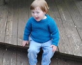 crochet pattern - child's raglan sweater