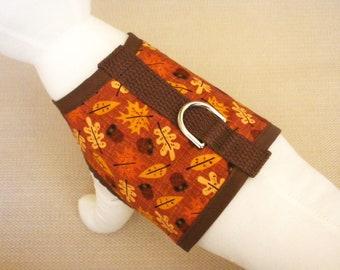 Leaf And Acorn Fall Dog Harness Vest