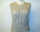 Sweater Vest Vintage 1970s Sweater Vest Hers a Hug Oatmeal