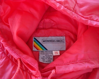 Member's Only Jacket Vintage 1980s Puffy Cape Coat Jacket