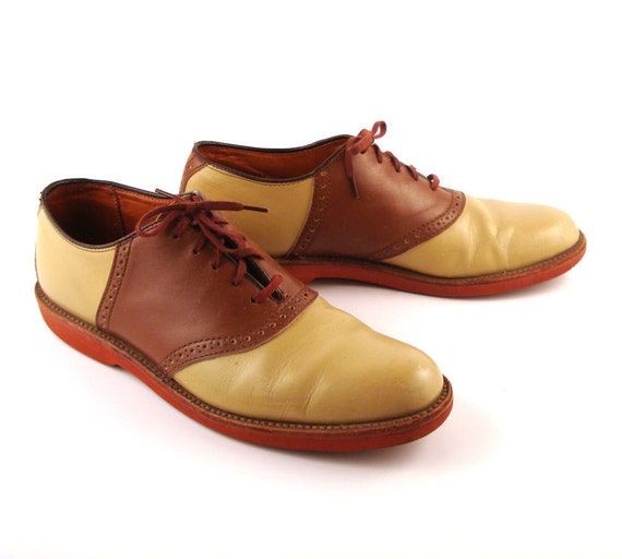 Saddle Oxford Shoes Leather Vintage 1980s Men's Cole Haan size 9 1/2 B