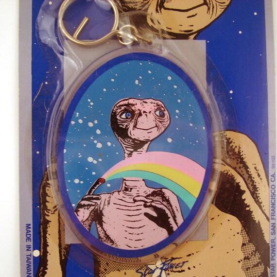 Vintage 1980s Et Plastic Key Chain