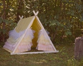 NEW PRICE - Kids A-Frame Ruffle Teepee Play Tent cover by Teepee and Tent