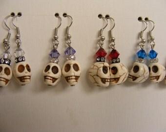 Crystal Skull Earrings