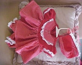 Homemade Preemie or Reborn Baby Doll 3pc. Dress outfits