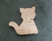 Wooden 4 piece Cat jigsaw puzzle