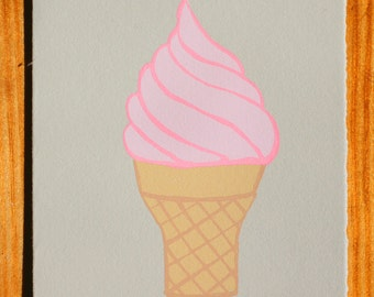 Ice Cream Cone Blank Greeting Card