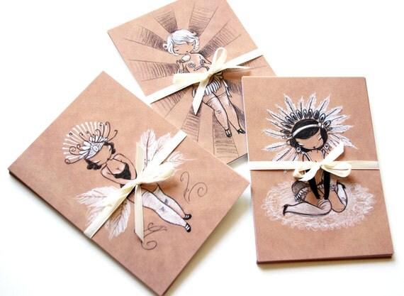 Set of 12 Postcards - Burlesque Beauties