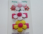 Baby Snap Clip-Infant Snap Clip-Itty Bitty Flower Clip-Set of 3