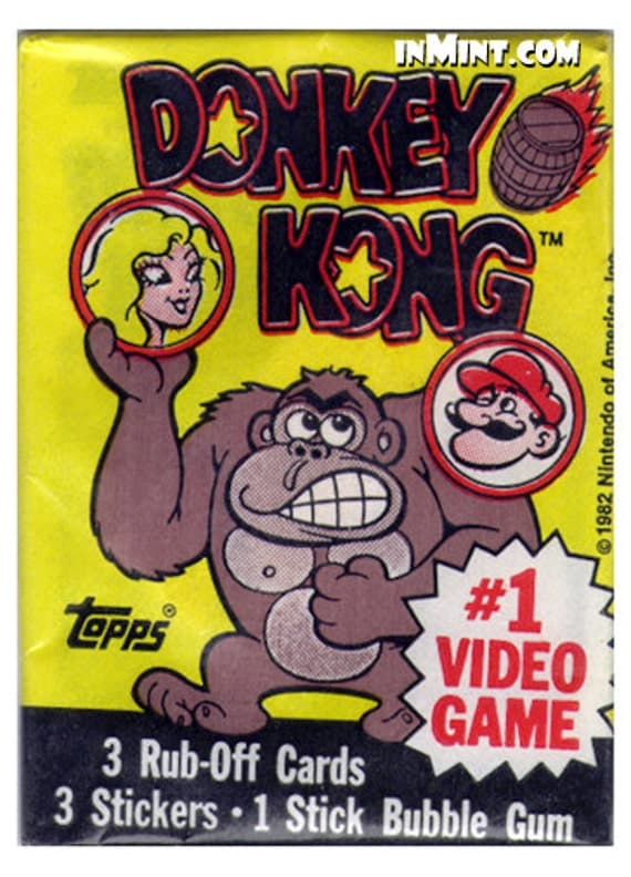 UNOPENED 1982 Donkey Kong 3 Card Package