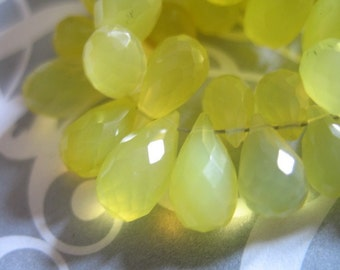 Shop Sale ..  4 pcs, CHALCEDONY Teardrop Briolettes Beads, Luxe AAA, 11-12.5 mm, Sunshine Yellow, brides bridal wholesale chalcedony 1012