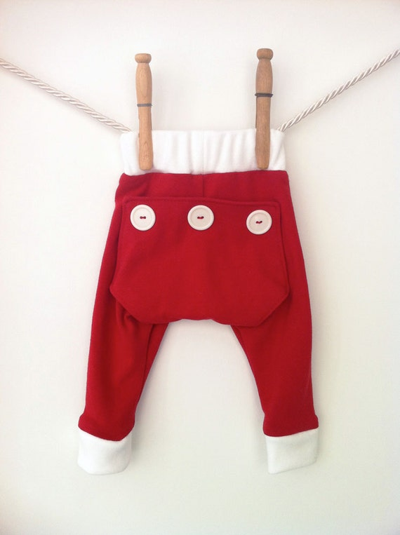 Pyjama set - red onesie and long john pants