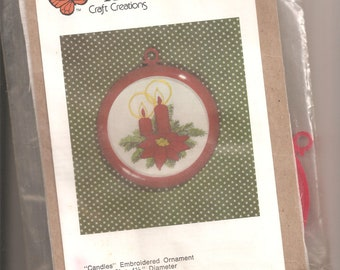 Better Homes and Gardens Craft Creations kit 15009Candles Tree Ornament Sealed